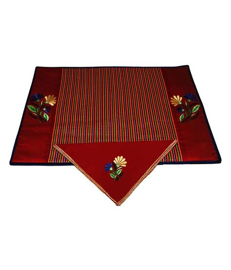 Fabric Table Mats by Mistletoe Silk Fabric Embroidered Table Mat With