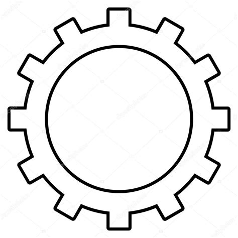 printable vector images gear outline vector icon stock vector 169 anastasyastocks