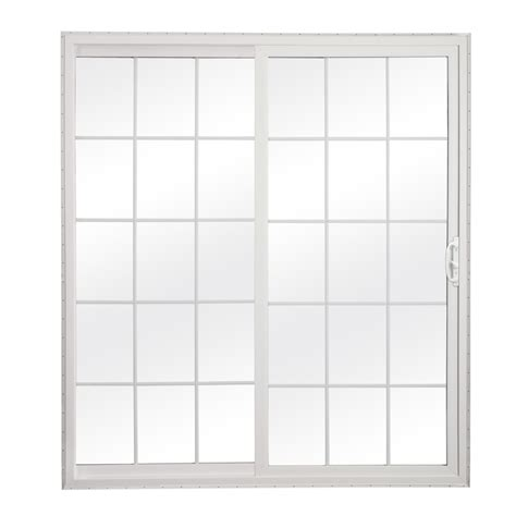 glass sliding patio doors shop reliabilt 300 series 70 75 in grilles between the