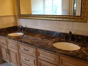 Bathroom Vanity Backsplash Ideas by Bathroom Vanity Tops And Backsplashes
