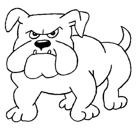 imagenes para dibujar de perros pitbull dibujo de perro bulldog para colorear dibujos net