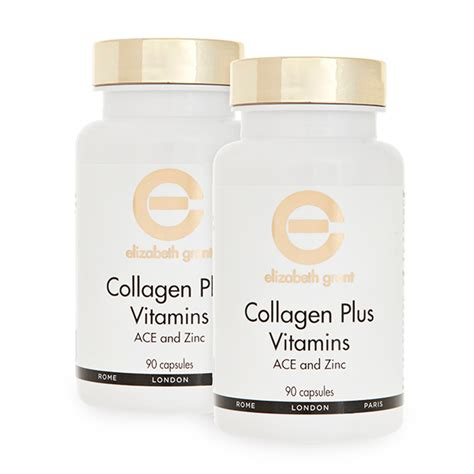 Collagen Plus elizabeth grant twinpack collagen plus vitamins 2 x 90 capsules 290638 ideal world