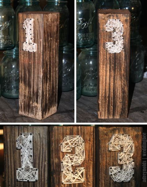 Rustic Table Numbers by 301 Moved Permanently
