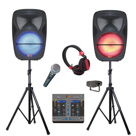 Mix Bluetooth Dan Speaker Qfx Bluetooth Dual Portable Speakers With Mixer