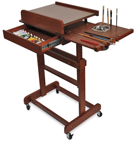 Artists Table by Craftech Rolling Painting Table Blick Materials