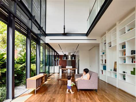 Double Height Living Room by Planos De Casa De Dos Pisos En Esquina Construye Hogar