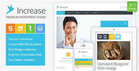 themeforest corporate template increase premium business theme by cmsmasters