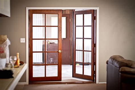 french doors swing in or out best outswing french doors prefab homes how to install