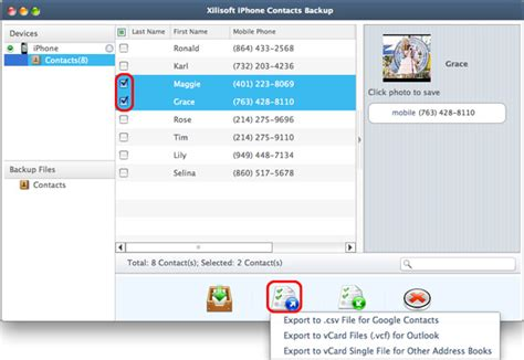 iphone contacts backup xilisoft iphone contacts backup for mac tutorial