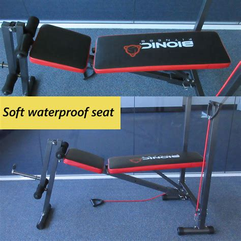 ebay weights bench multi station weight bench press curl home fitness gym