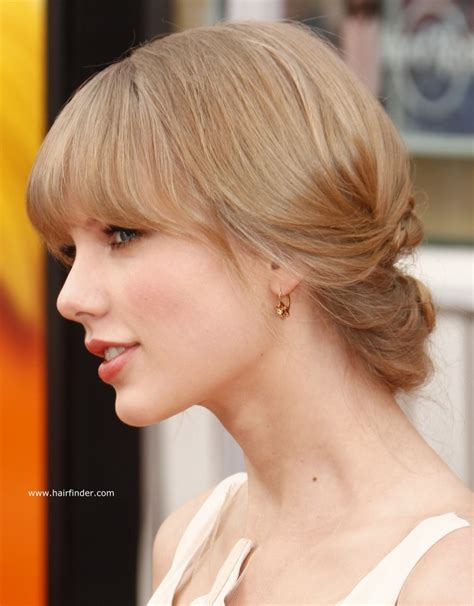 photos of updos and formal hairstyles hairfinder taylor swift hair in a low updo for formal occasions