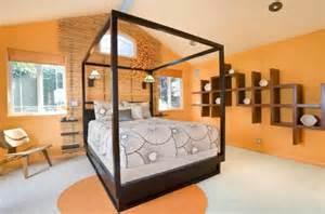 wohnideen schlafzimmer gemtlich wandfarbe apricot warm und gem 252 tlich