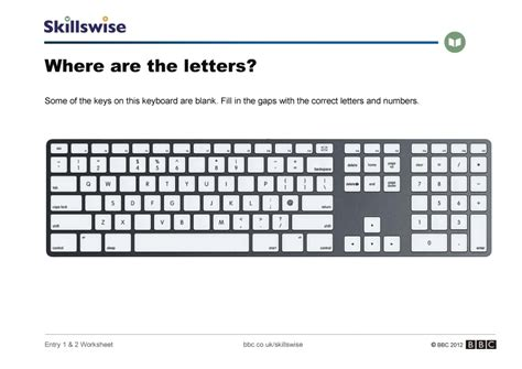 Keyboarding Worksheets where are the letters