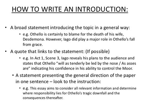 How To Write An Essay Intro by Sle Essay Intros