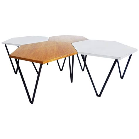 modular coffee table set of 4 gio ponti laminated and wood modular coffee