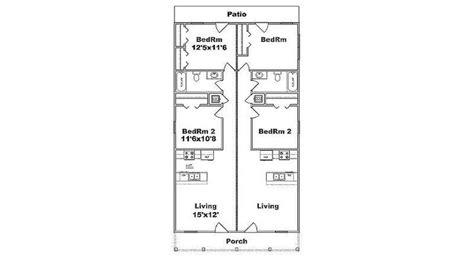 duplex floor plans for narrow lots duplex plans for narrow lots studio design gallery