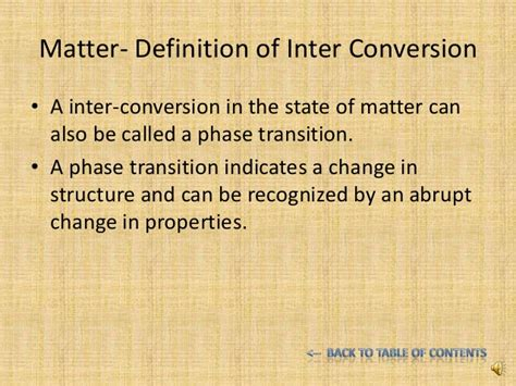 matter chemistry definition inter conversion of states of matter