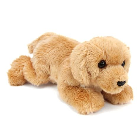 golden retriever with stuffed animal goldie the plush golden retriever by