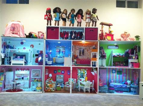 american dolls houses american girl doll house structure built by mom s co worker and her husband many