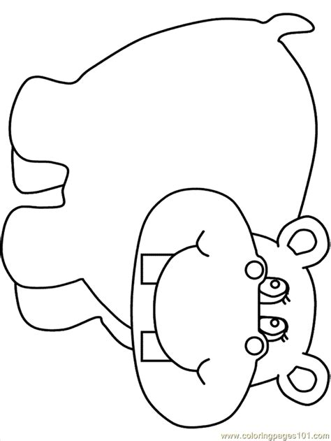 baby hippo coloring page pictures of a hippopotamus coloring home