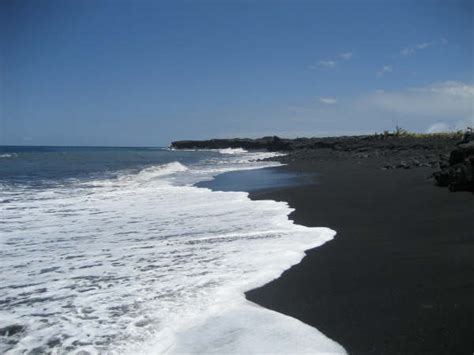 where is the black sand beach the most beautiful accessable black sand beach in kona