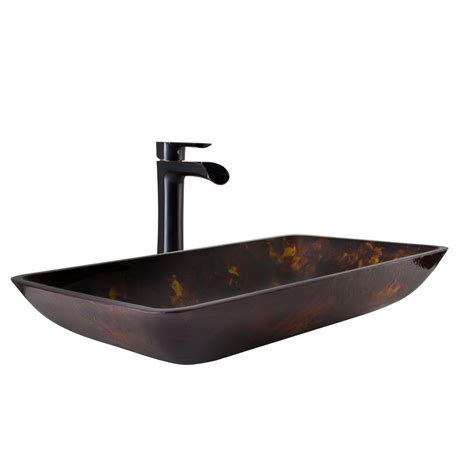 vessel sink and faucet sets vigo vessel sink in brown and gold fusion and niko faucet