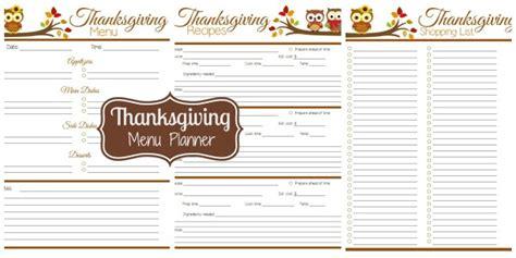 printable thanksgiving meal planner menu plan monday nov 3 14