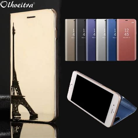 clear view window flip cover  iphone    case