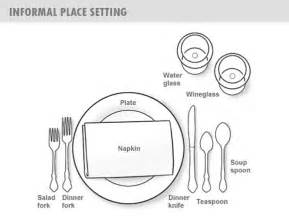 Table Place Setting by Dining Table Dining Table Setting Layout