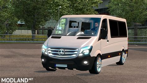 mod car game euro truck simulator 2 mercedes sprinter cdi211 2014 mod for ets 2