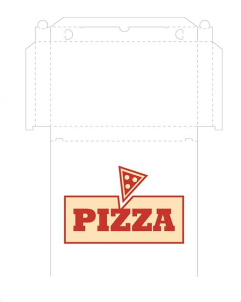 Pizza Box Template pizza box template 15 free sle exle format