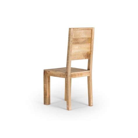 chaise en chêne massif chaise chennai en bois de manguier massif achat vente