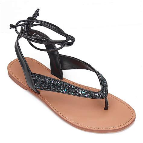 multi colored flat sandals multi color glitter embellished lace up flat sandals us