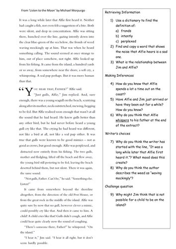 reading comprehension tests yr 5 reading comprehension year 5 year 6 by klbgreen teaching