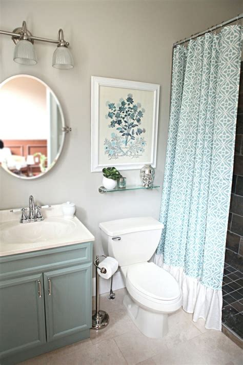 small bathroom curtains 67 cool blue bathroom design ideas digsdigs