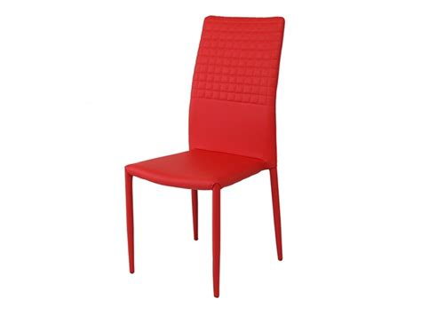 Cuba Stackable Faux Leather Red Dining Chair Stackable Leather Dining Chairs