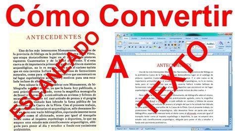 convertir pdf imagenes a pdf texto como convertir una imagen escaneada a texto word sin