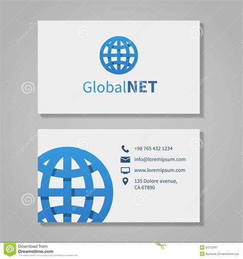 Rushcard Corporate Office Phone Number by Global Corporation Business Card Stock Vector Image