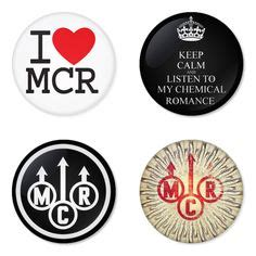My Melody Rubber Magnet Set 4 Pcs my chemical mcr rock band logo button badge 1 75