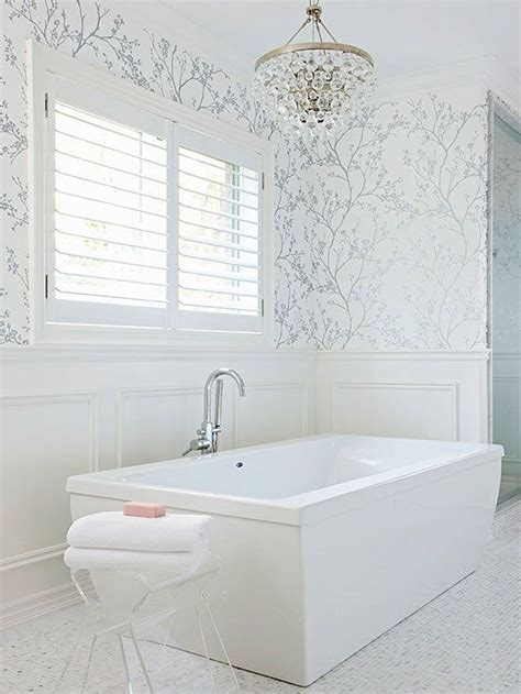 bathroom wallpaper ideas  pinterest wall