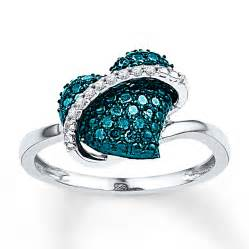 daimond ring blue ring 1 4 ct tw cut sterling silver