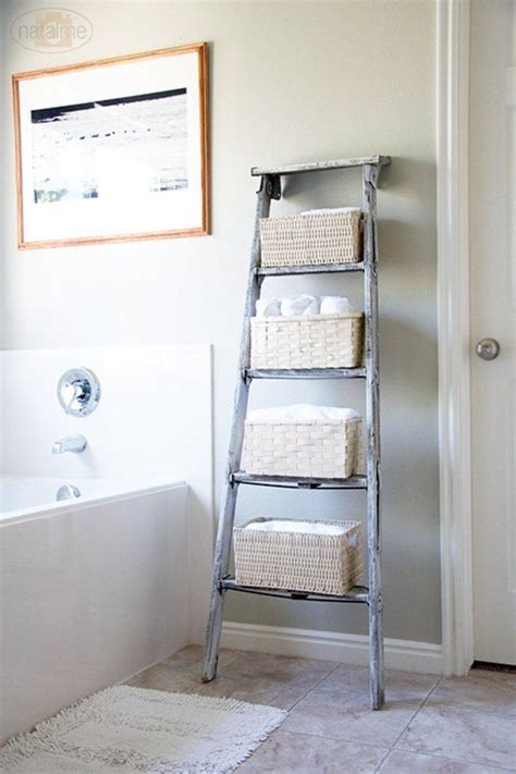 Diy Decor Trend Handmade Storage Ladders Ladder Bathroom Storage