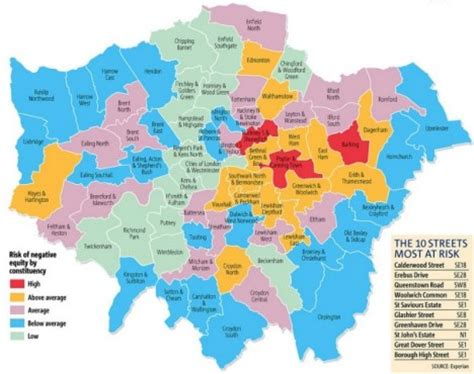 house to buy in east london the negative equity map of london the top 10 postcodes most at risk from sub prime