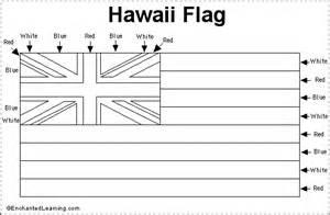 Hawaiian Flag Coloring Page hawaii flag printout enchantedlearning