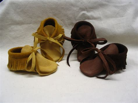 Handmade Moccasin - leather baby moccasins in softest deerskin leather in