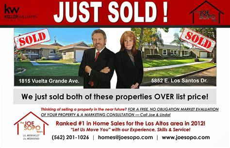 power real estate marketing just sold postcards splash openning