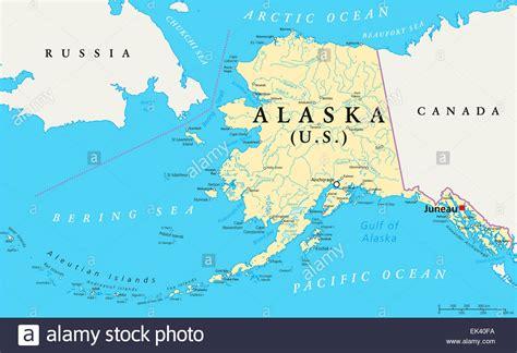 us political map alaska us state alaska political map with capital juneau