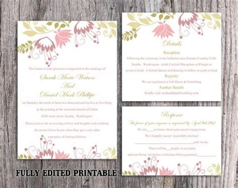printable wedding invitation suite printable wedding invitation suite printable invitation