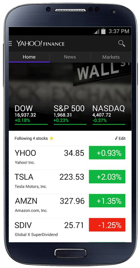 finance app for android yahoo finance apps redesigned with news and interactive graphs
