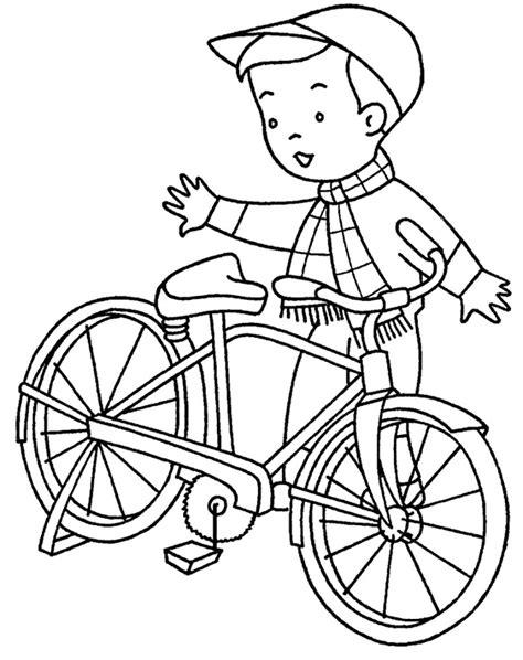 Gambar Mewarnai Bermain Sepeda